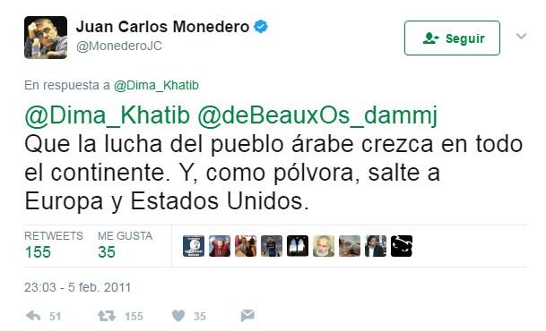 Un polémico tuit de Juan Carlos Monedero que se recuerda cada vez que hay un atentado