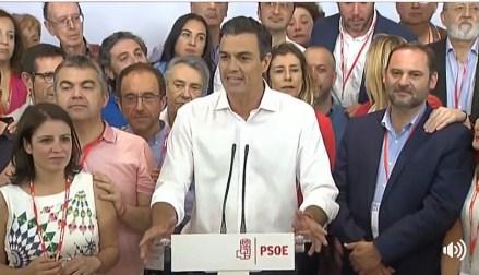Pedro Sánchez que llevó al PSOE a sus dos mayores fracasos electorales, gana las primarias