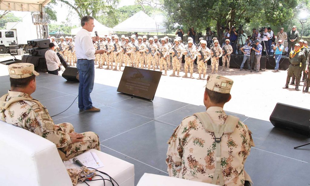 Las FF.AA y Policía Nacional de Colombia inician proceso de desarrollo social en zonas dejadas por las FARC