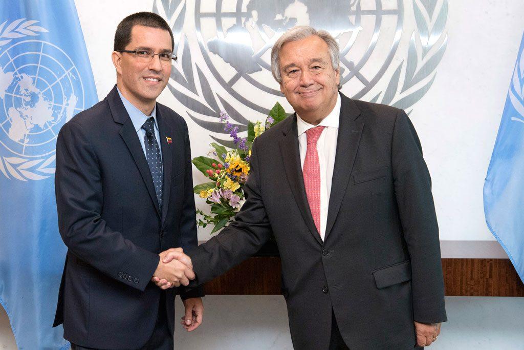Jorge Arreaza, el mandadero de Maduro pide a la ONU apoyo ante sanciones de EEUU