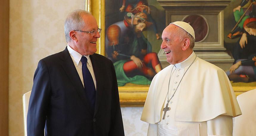Kuczynski confirma visita del Papa Francisco a Perú en enero de 2018