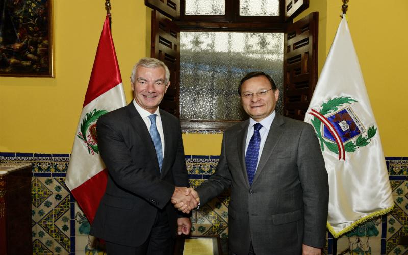 Perú y Bélgica refuerzan diálogo político para dinamizar y profundizar agenda bilateral