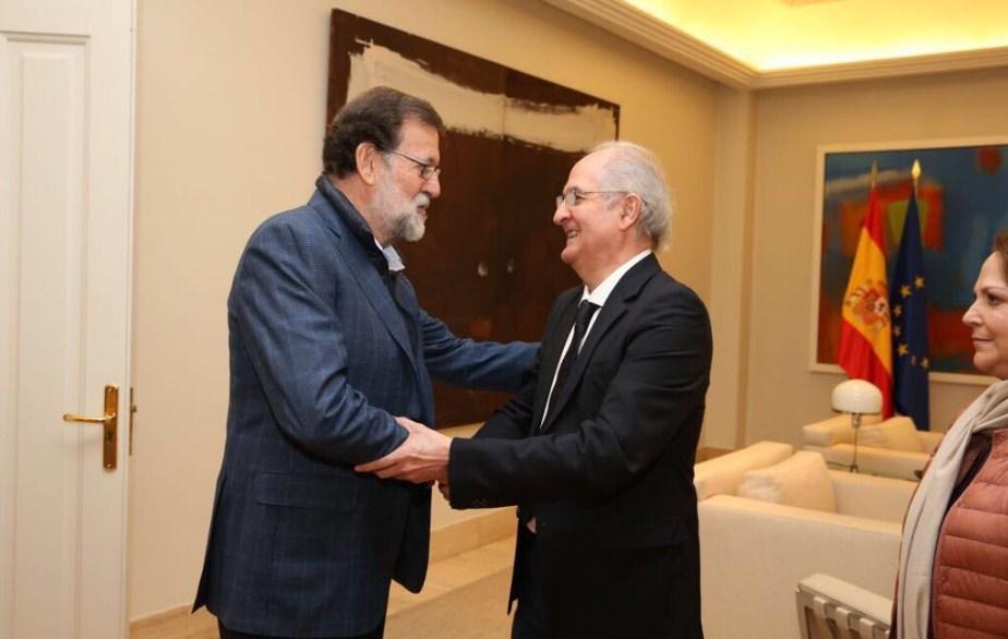 El ex preso político Antonio Ledezma llegó a Madrid y se reunió con Rajoy