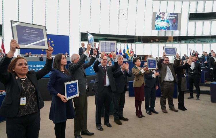 Parlamento Europeo entrega el Premio Sájarov a la oposición de Venezuela