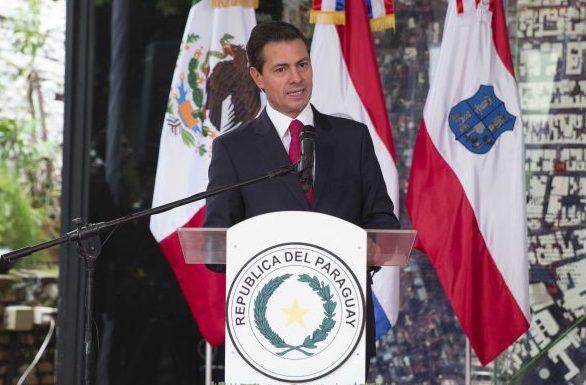 México acelerará acuerdo de libre comercio con Paraguay, anunció Peña Nieto