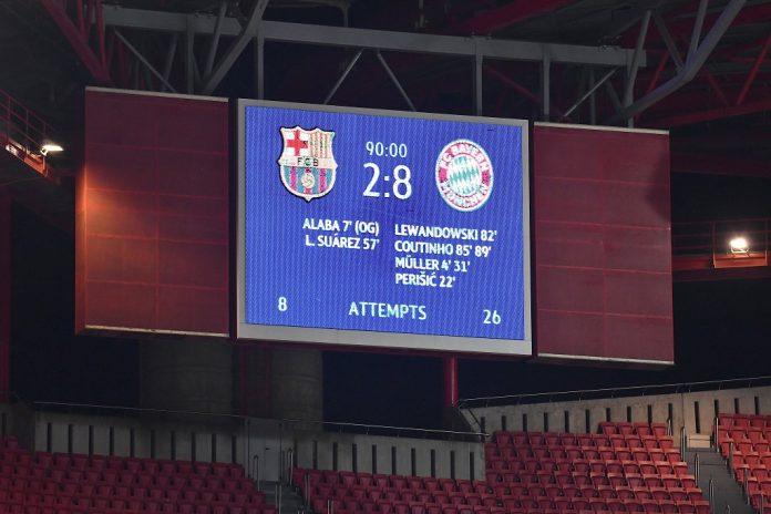 Baile El Barca Queda Fuera De La Champions Tras Historica Paliza Del Bayern Munich Icndiario